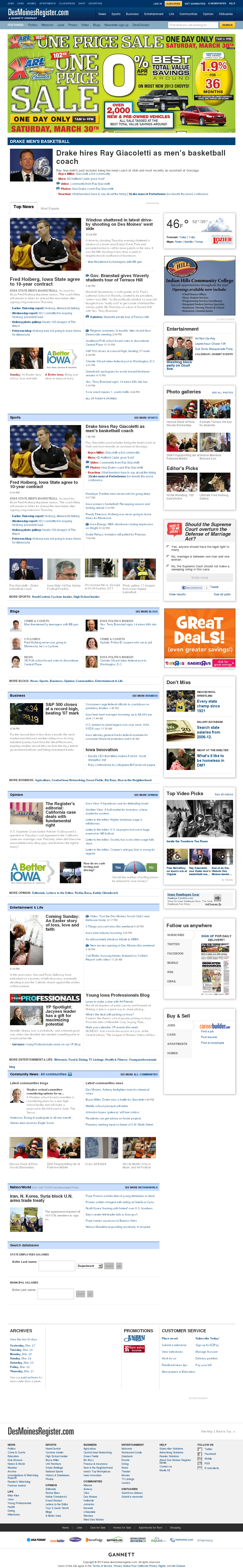 DesMoinesRegister.com at Friday March 29, 2013, 5:05 a.m. UTC