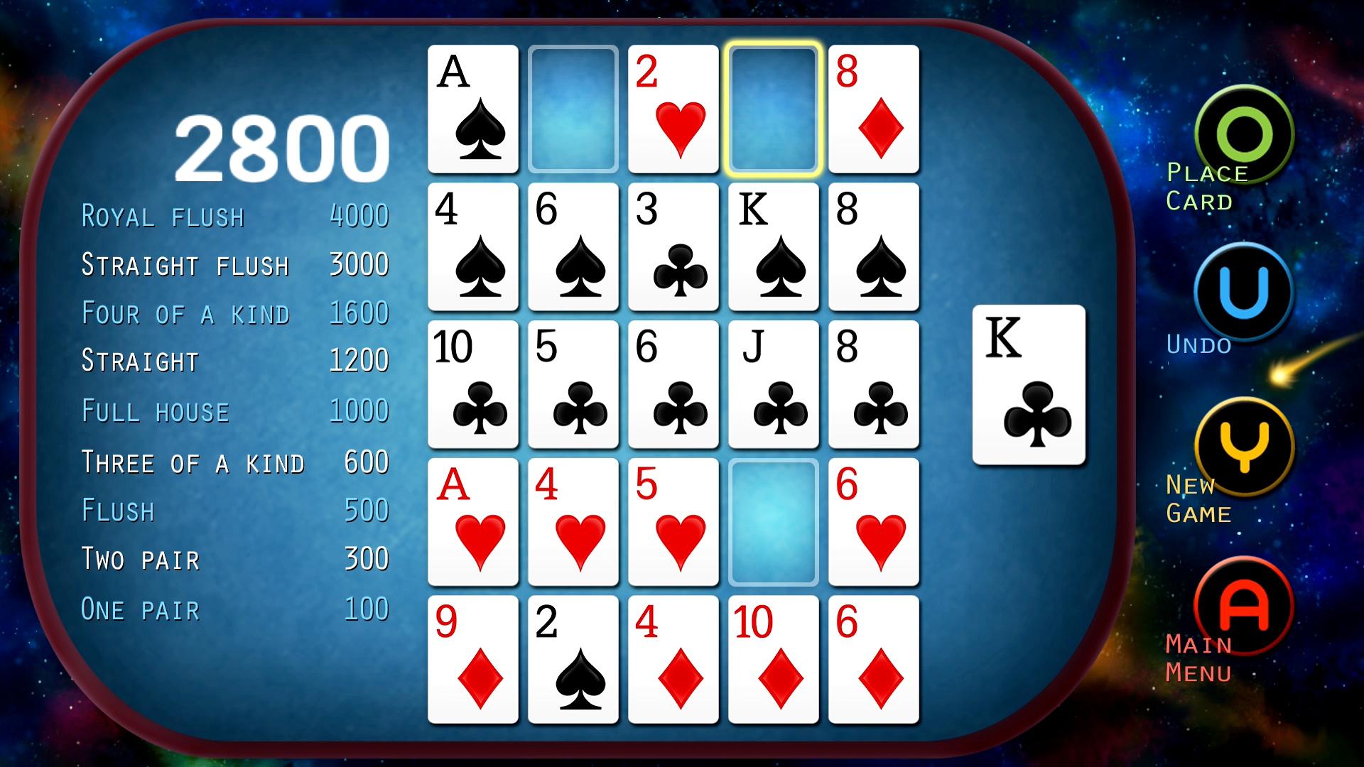 Screenshot of Poker Solitaire