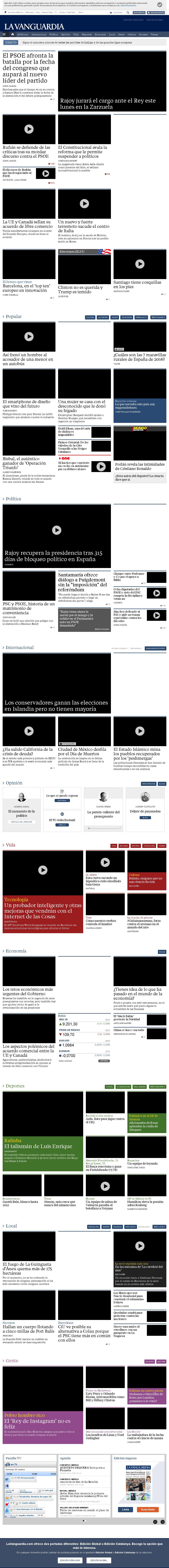 La Vanguardia at Sunday Oct. 30, 2016, 4:26 p.m. UTC