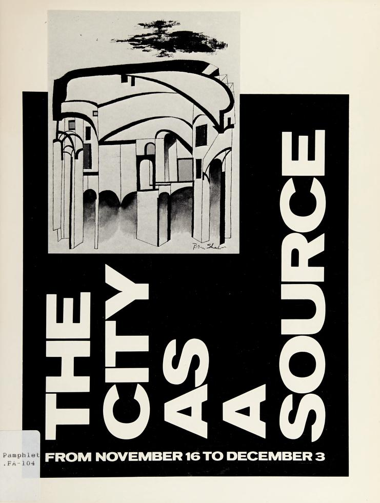 The City as a source by Kennedy Galleries (New York, N.Y.)