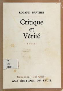 Cover of: Critique et vérité | Roland Barthes