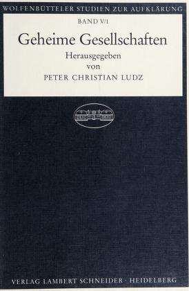 Cover of: Geheime Gesellschaften   hrsg. von Peter Christian Ludz.