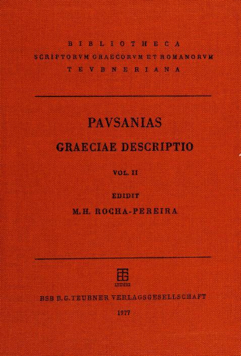 Pausaniae Graeciae descriptio by Pausanias