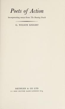 Cover of: Poets of action | George Wilson Knight