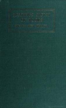 Cover of: The reader's digest of books | Helen Rex Keller