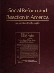 Cover of: Social reform and reaction in America |