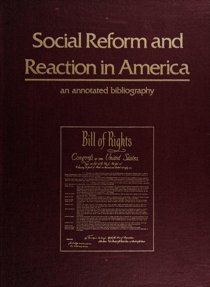 Social reform and reaction in America by